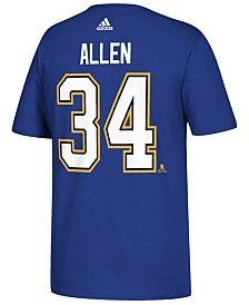 adidas Men's Jake Allen St. Louis Blues Silver Player T-Shirt