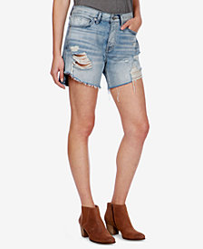 Lucky Brand Ripped Denim Boyfriend Shorts