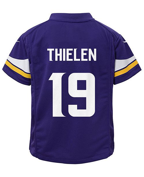 reputable site bd8fd 2337e Adam Thielen Minnesota Vikings Game Jersey, Little Boys (4-7)