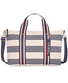 Tommy Hilfiger Classic Tommy Woven Rugby Canvas Duffle