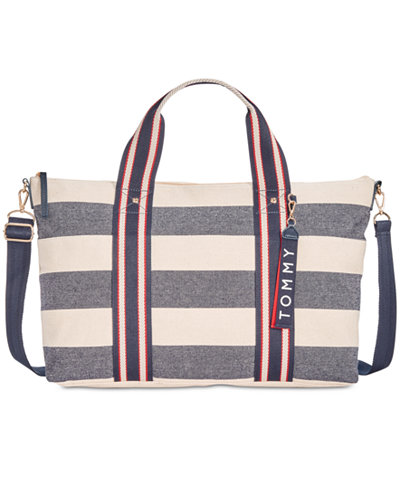 Tommy Hilfiger Classic Tommy Woven Rugby Canvas Extra-Large Duffel