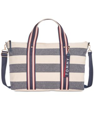 CLASSIC TOMMY WOVEN RUGBY CANVAS DUFFLE