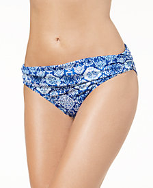 Lauren Ralph Lauren Aegean Tile Banded-Waist Bikini Bottoms