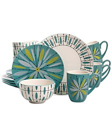 Gibson Luminescent Anza 16-Pc. Dinnerware Set, Service for 4