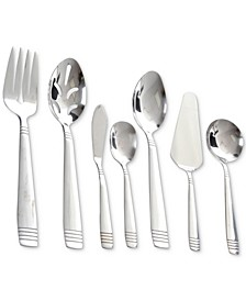 Palmore Plus 55-Pc. Stainless Steel Flatware & Serving Set, Service for 8