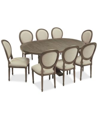 Tristan Round Expandable Dining Furniture, 9 Pc. Set (Table U0026 8 Side