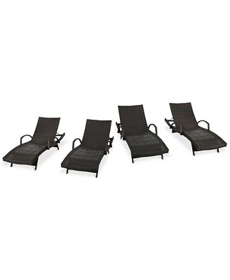 Hayden Outdoor Chaise Lounge Set Of 4 Quick Ship