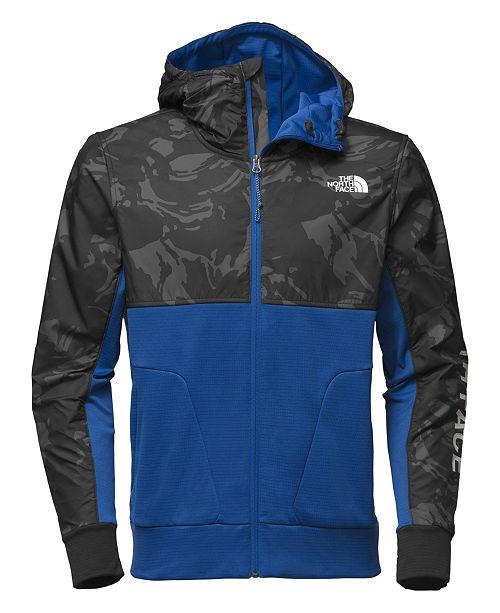 Men's Printed Full-Zip Fleece Hooded Jacket