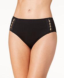 Kenneth Cole Chain Reaction Hardware Bikini Bottoms