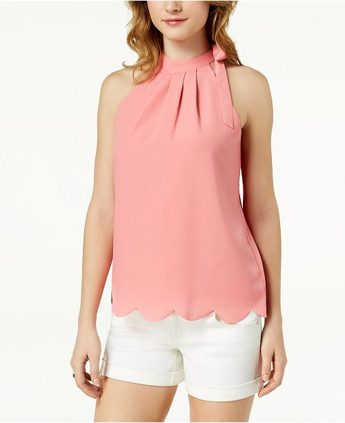 Scalloped Faux-Tie Top, Created for Macy's