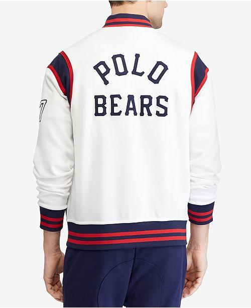 2d86eede ... Polo Ralph Lauren Men's Polo Bear Baseball Jacket, Created for Macy's  ...