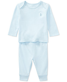 Polo Ralph Lauren Cotton Top & Pants Set, Baby Boys