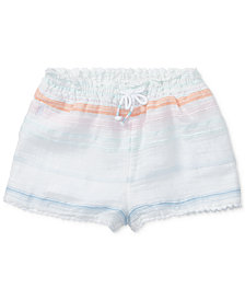 Polo Ralph Lauren Striped Cotton Shorts, Baby Girls