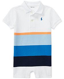 Polo Ralph Lauren Colorblocked Cotton Romper, Baby Boys