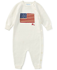 Polo Ralph Lauren Graphic Cotton Coverall, Baby Boys & Girls