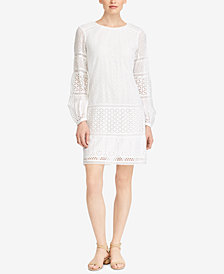 Lauren Ralph Lauren Floral-Eyelet Cotton Dress