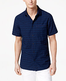 A|X Armani Exchange Men's Stripe Pocket Shirt