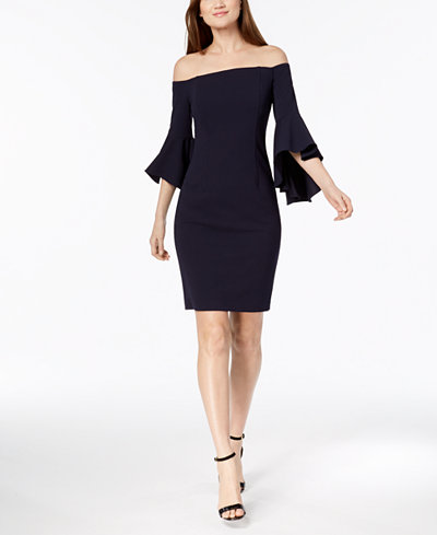Calvin Klein Off-The-Shoulder Sheath Dress