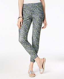MICHAEL Michael Kors Floral-Print Leggings, Regular & Petite