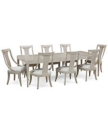 Rachael Ray Cinema Expandable Dining Furniture, 9-Pc. Set (Rectangular Dining Table & 8 Sling Back Dining Chairs)