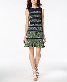 MICHAEL Michael Kors Paisley-Striped Shift Dress, Regular & Petite