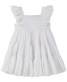 Calvin Klein Crochet & Eyelet Dress, Little Girls