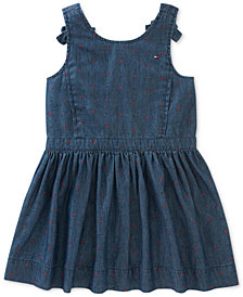 Tommy Hilfiger Floral-Print Denim Dress, Little Girls