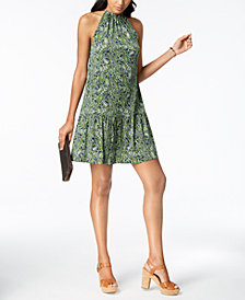 MICHAEL Michael Kors Printed Halter Dress, Regular & Petite, a Macy's Exclusive Style