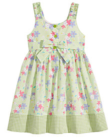 Blueberi Boulevard Floral-Print Cotton Sundress, Toddler Girls