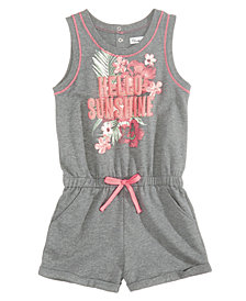 Epic Threads Hello Sunshine Graphic-Print Romper, Big Girls, Created for Macy's