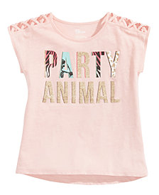 Epic Threads Party Animal T-Shirt, Big Girls, Created for Macy's