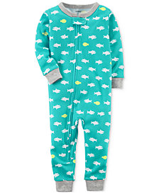 Carter's 1-Pc. Shark-Print Cotton Pajamas, Baby Boys