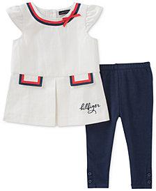 Tommy Hilfiger 2-Pc. Tunic & Leggings Set, Baby Girls