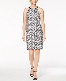 Nine West Embellished Halter Sheath Dress