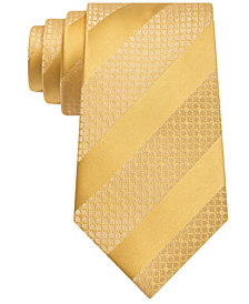 Sean John Men's Diagonal Stripe Unsolid Solid Silk Tie