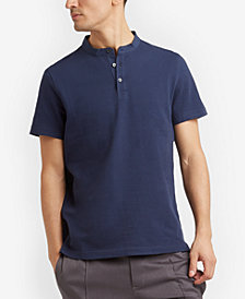 Kenneth Cole Reaction Men's Waffle-Knit Band-Collar Henley