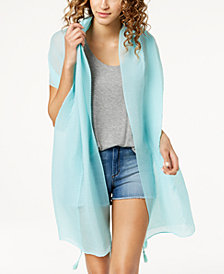 I.N.C. Tassel Pleated Wrap & Sarong Cover-Up, Created for Macy's