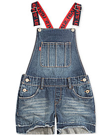Levi's® Boyfriend Cotton Denim Shortalls, Little Girls