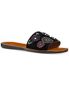 COACH Tea Rose Slide Sandals