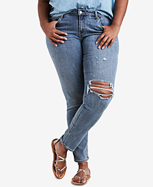 Levi's® Plus Size 711 Outta Time Distressed Skinny Jeans