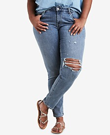 Levi's® Plus Size 711 Ripped Skinny Jeans