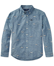Polo Ralph Lauren Embroidered Chambray Shirt, Big Boys
