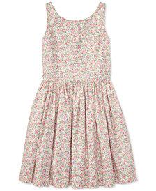 Ralph Lauren Fit & Flare Cotton Dress, Big Girls