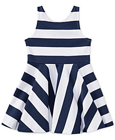 Ralph Lauren Striped Fit & Flare Dress, Toddler Girls