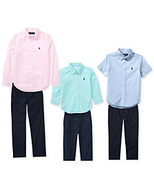 Ralph Lauren Gingham Shirt & Suffield Pants, Baby Boys, Toddler Boys, Little Boys & Big Boys