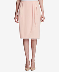 Calvin Klein Ruffled Wrap Skirt