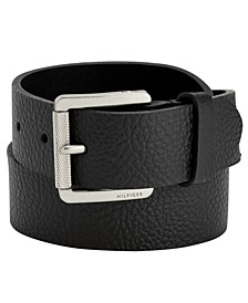 Knarled Buckle Leather Belt