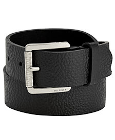 Tommy Hilfiger 38mm Knarled Buckle Leather Belt