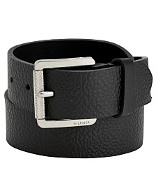 Tommy Hilfiger Knarled Buckle Leather Belt