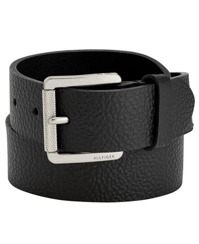 Tommy Hilfiger 38mm Knarled Buckle Leather Belt